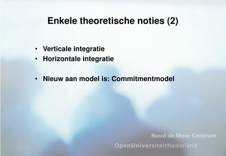Enkele theoretische noties (2)