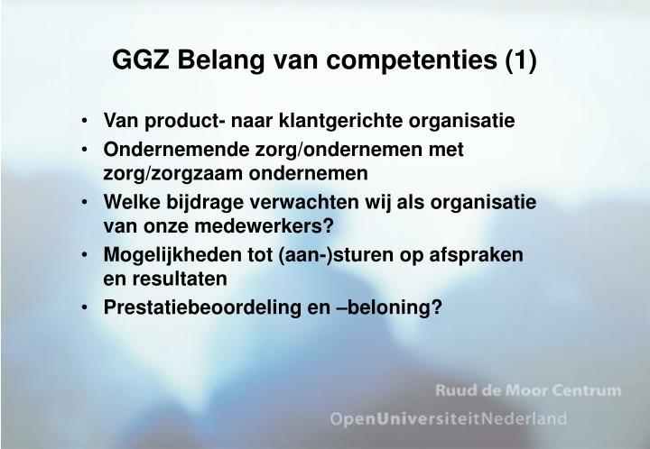 GGZ Belang van competenties (1)