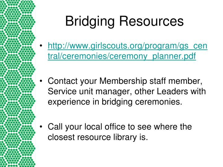 Bridging Resources