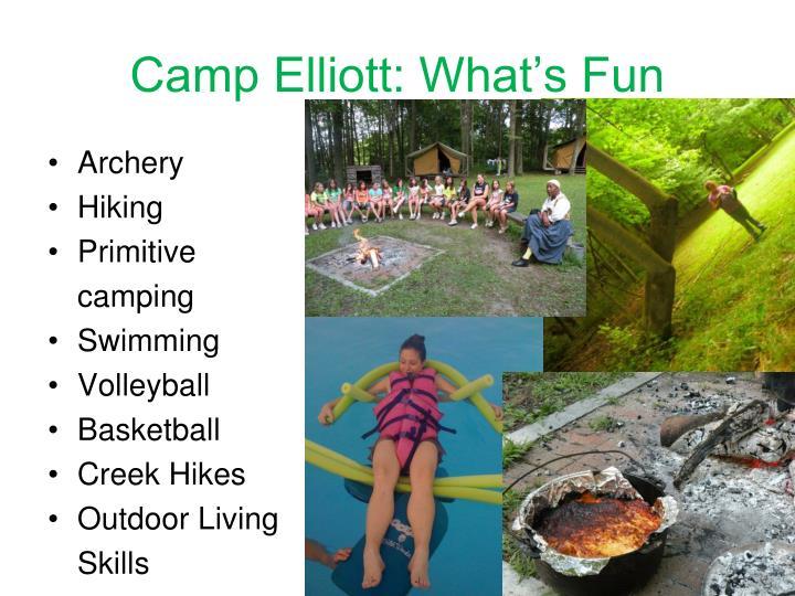 Camp Elliott: What's Fun