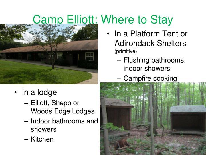 Camp Elliott: Where to Stay