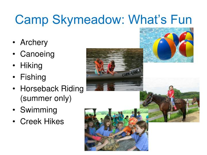 Camp Skymeadow: What's Fun