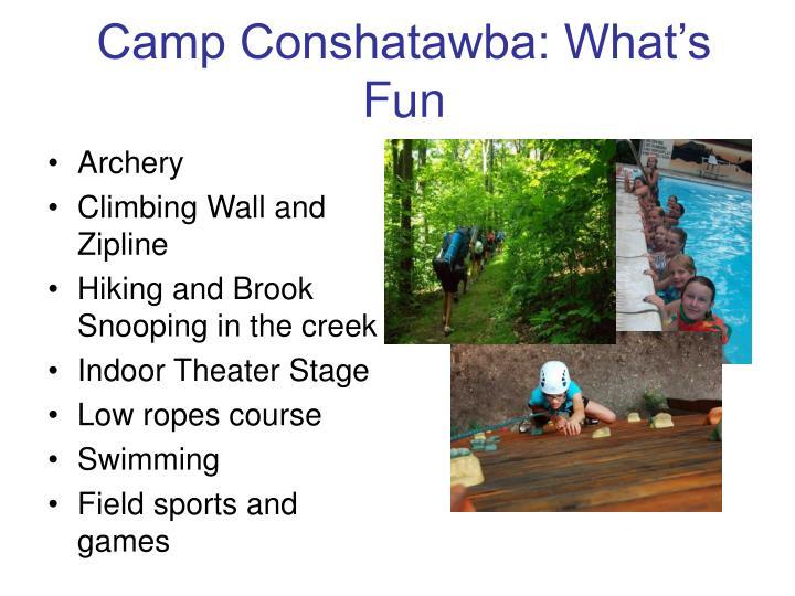 Camp Conshatawba: What's Fun