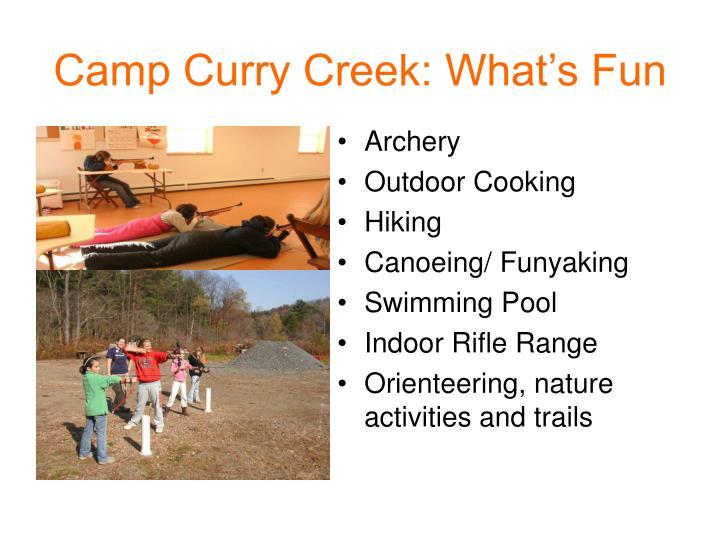 Camp Curry Creek: What's Fun