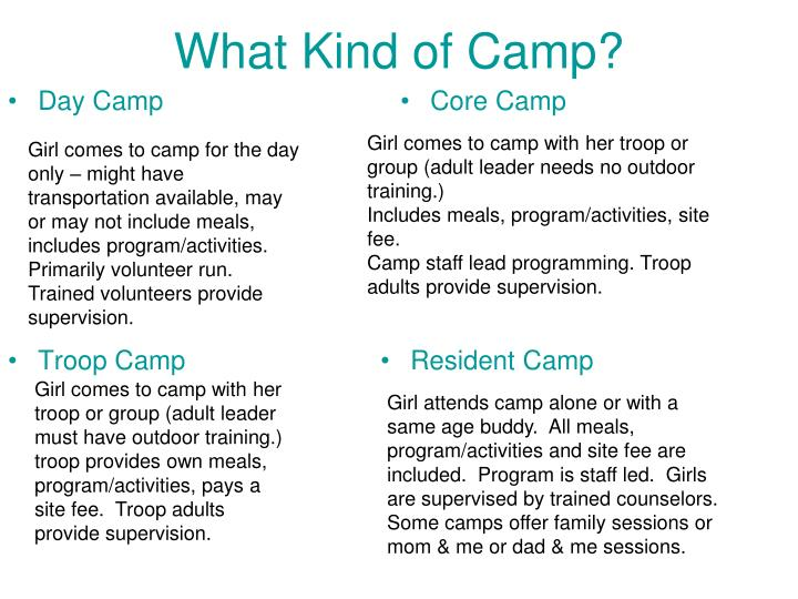What Kind of Camp?