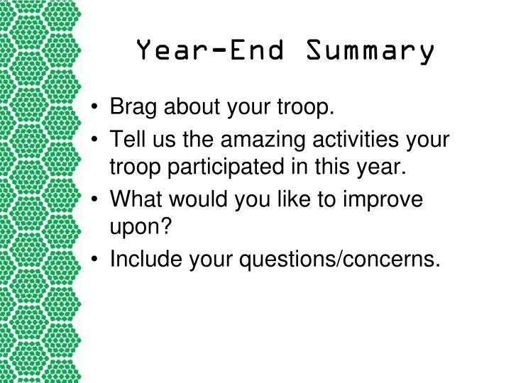 Year-End Summary