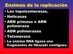 enzimas de la replicaci n