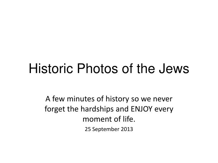 historic photos of the jews n.