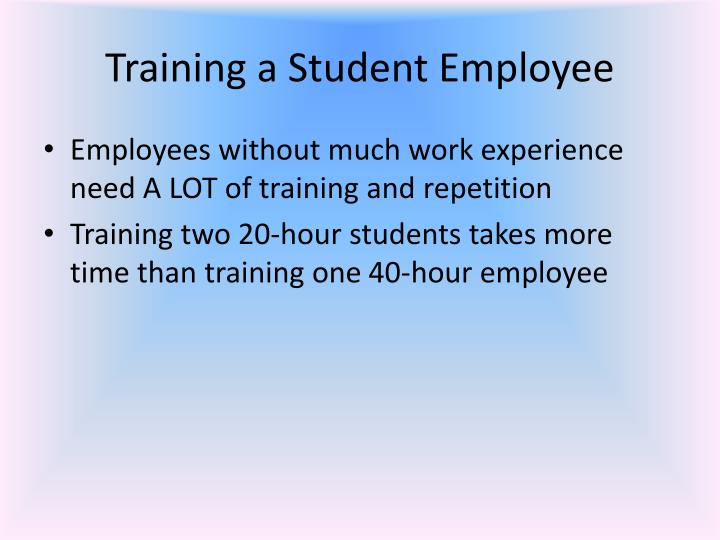 Training a Student Employee