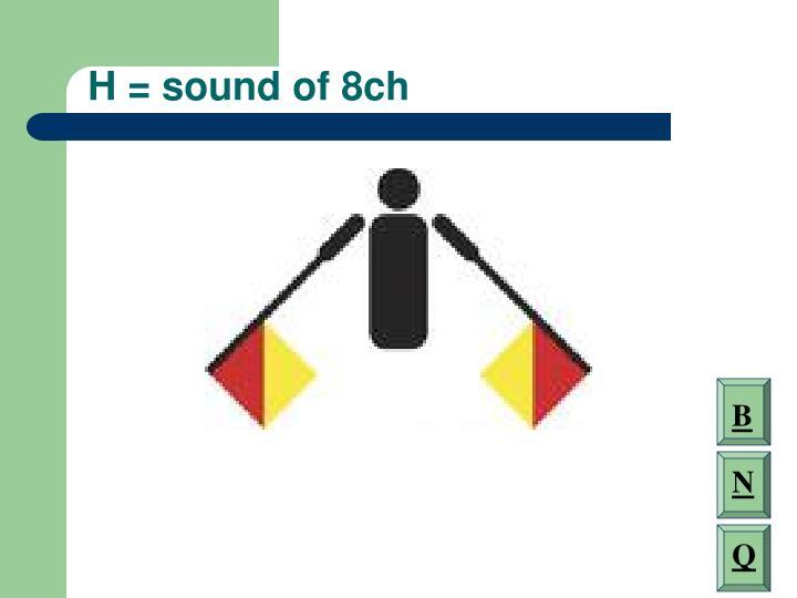 H = sound of 8ch