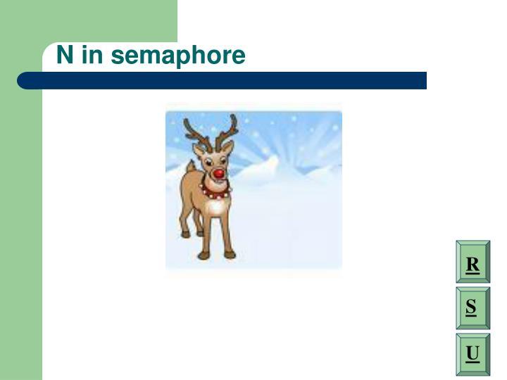 N in semaphore