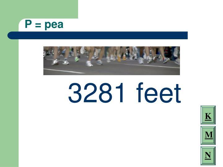 P = pea