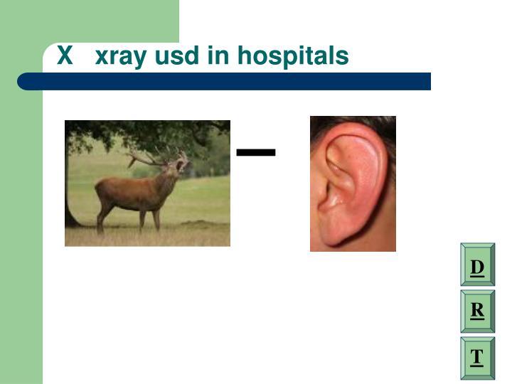 X   xray usd in hospitals