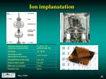 ion implanatation