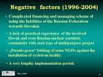 negative factors 1996 2004