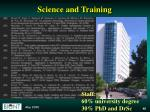 science and training1
