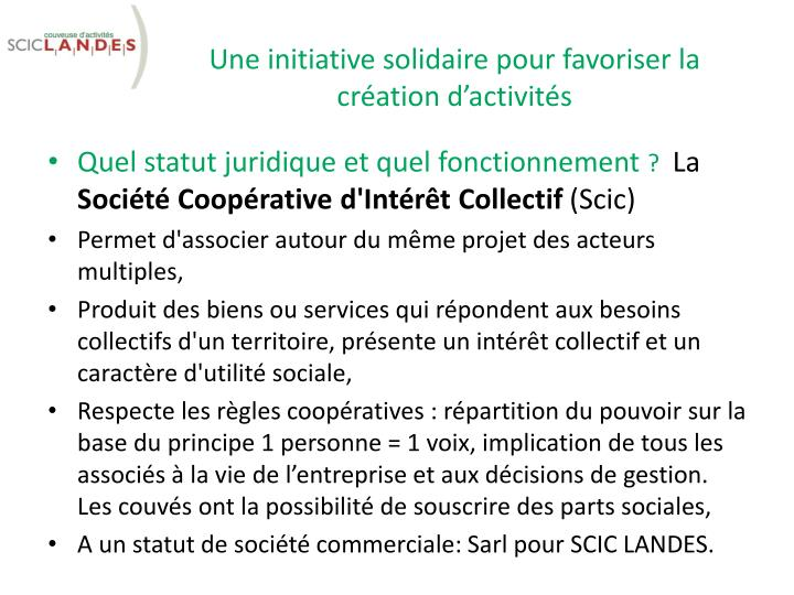 Une initiative solidaire pour favoriser la cr ation d activit s1