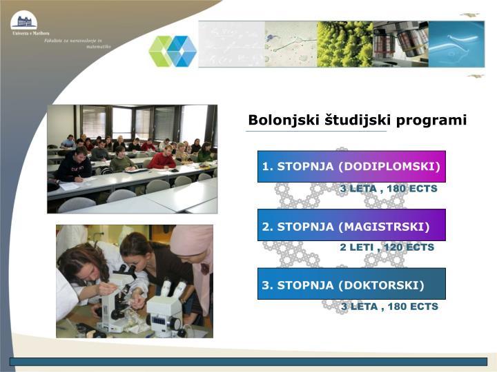 Bolonjski študijski programi