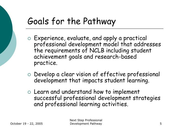 Goals for the Pathway