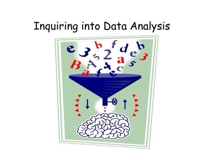 Inquiring into Data Analysis