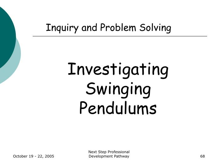 Inquiry and Problem Solving