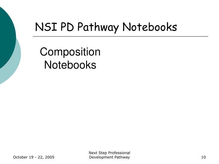 NSI PD Pathway Notebooks
