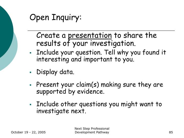 Open Inquiry: