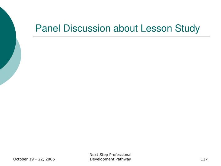 Panel Discussion about Lesson Study