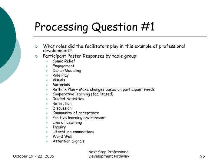 Processing Question #1