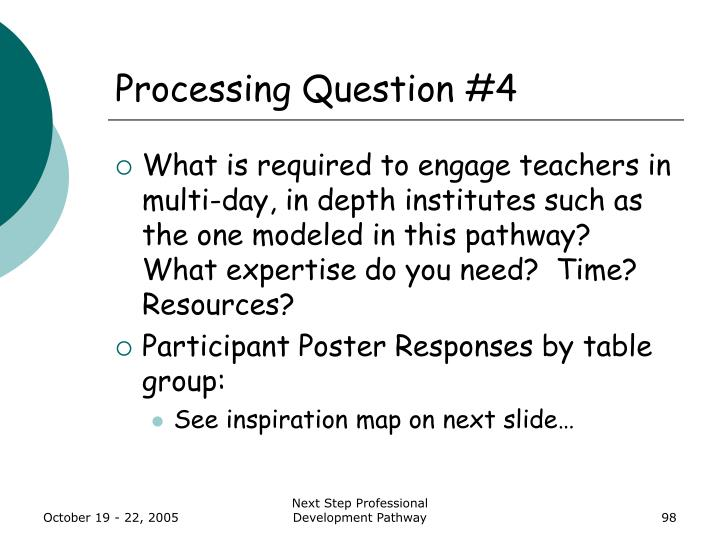 Processing Question #4