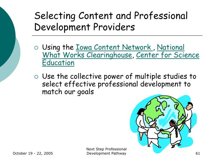 Selecting Content and Professional Development Providers