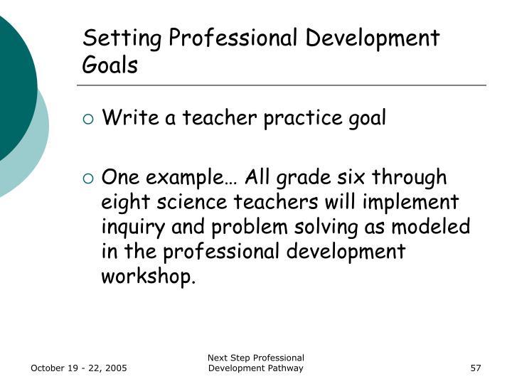 Setting Professional Development Goals