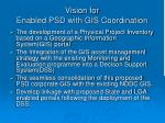 vision for enabled psd with gis coordination