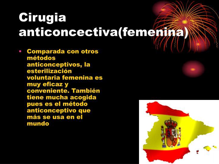 Cirugia anticoncectiva femenina