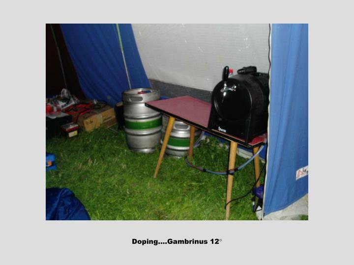 Doping….Gambrinus 12°