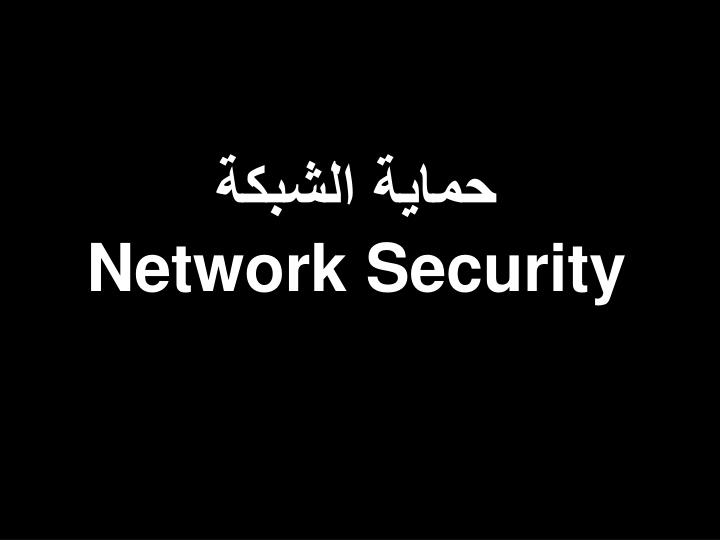 حماية الشبكة