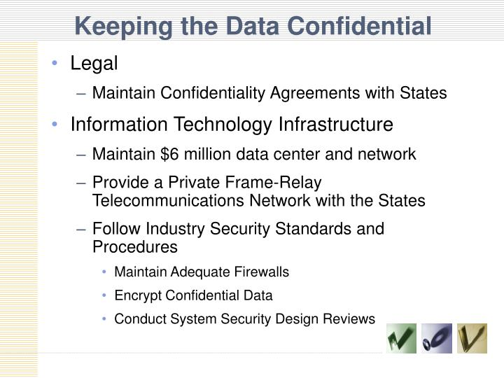 Keeping the Data Confidential