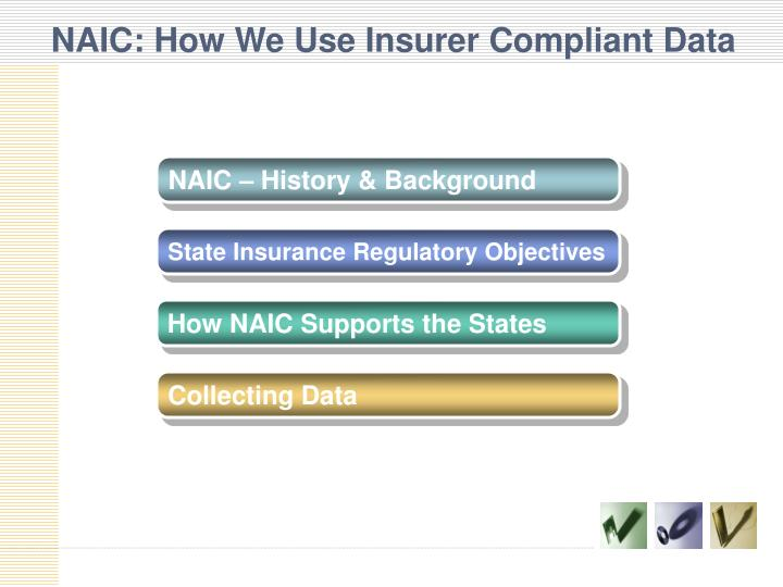 Naic how we use insurer compliant data