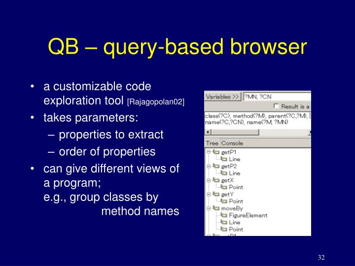 QB – query-based browser