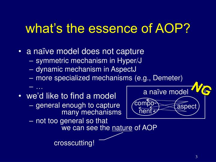 What s the essence of aop