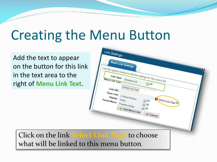 Creating the Menu Button