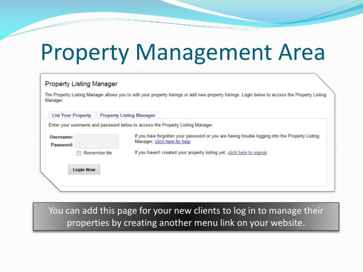 Property Management Area