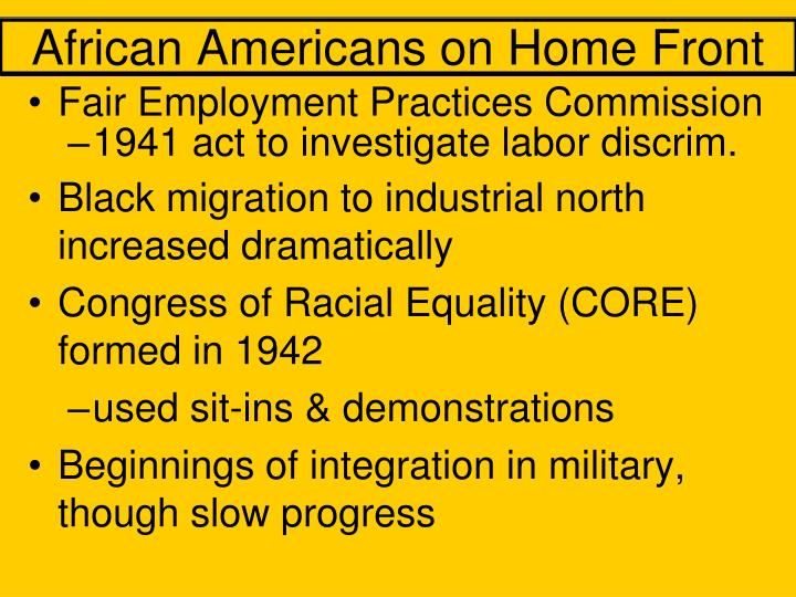 African Americans on Home Front