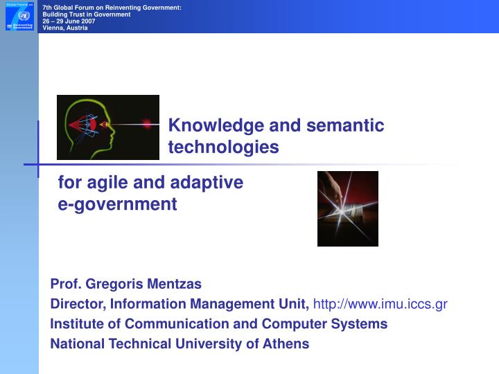 knowledge and semantic technologies n.