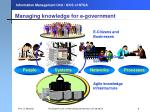 managing knowledge for e government