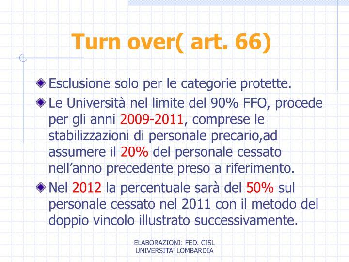 Turn over( art. 66)
