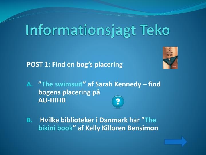Informationsjagt teko
