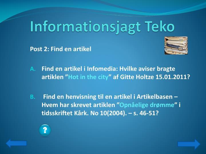 Informationsjagt teko1