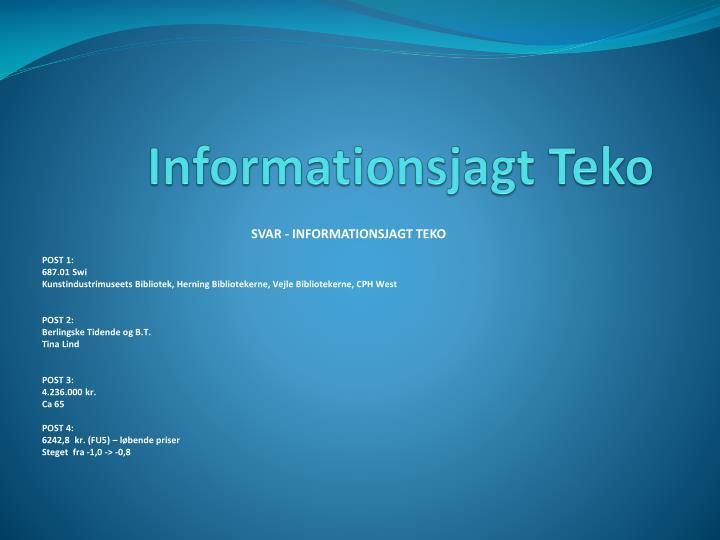 Informationsjagt