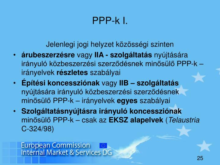 PPP-k I.